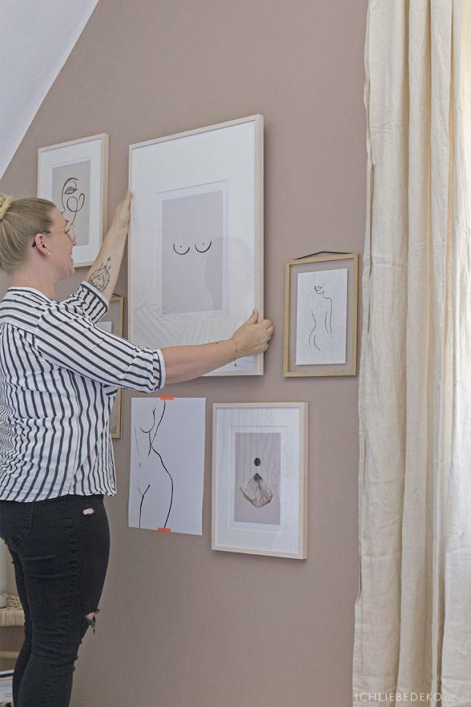 Bildergalerie im Schlafzimmer gestalten
