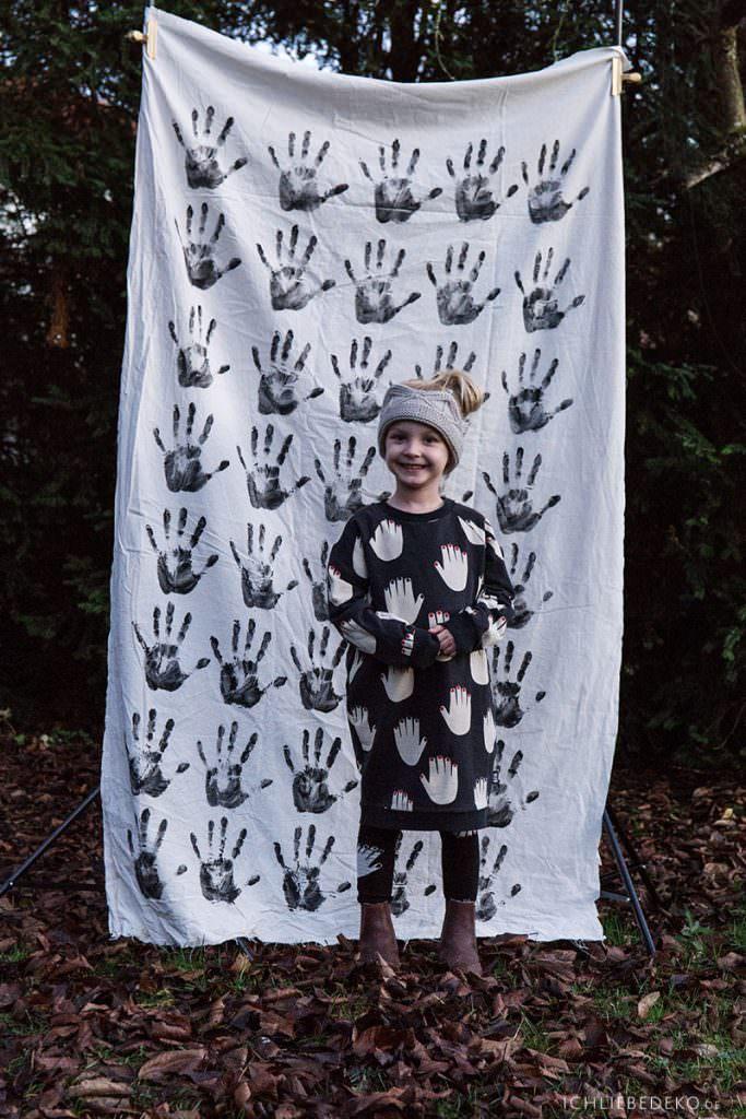 Kleid mit Handflächen Little Man Happy
