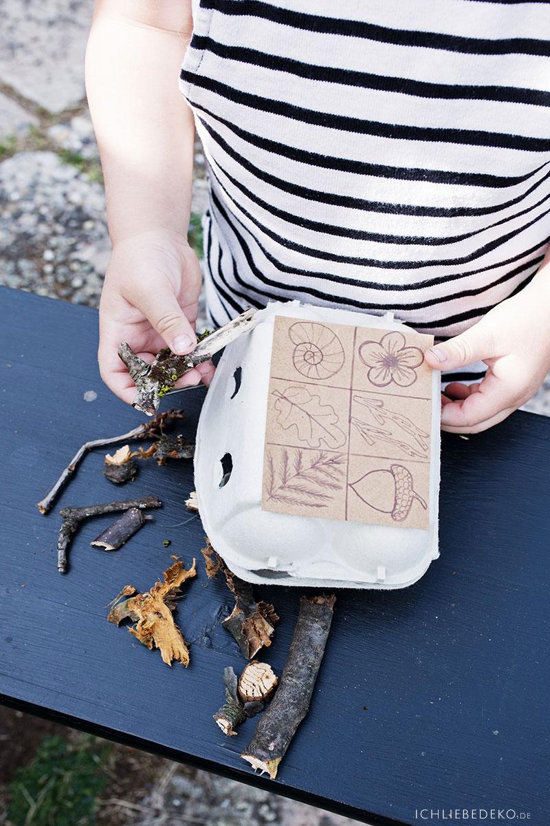 DIY Naturbingo für Kinder