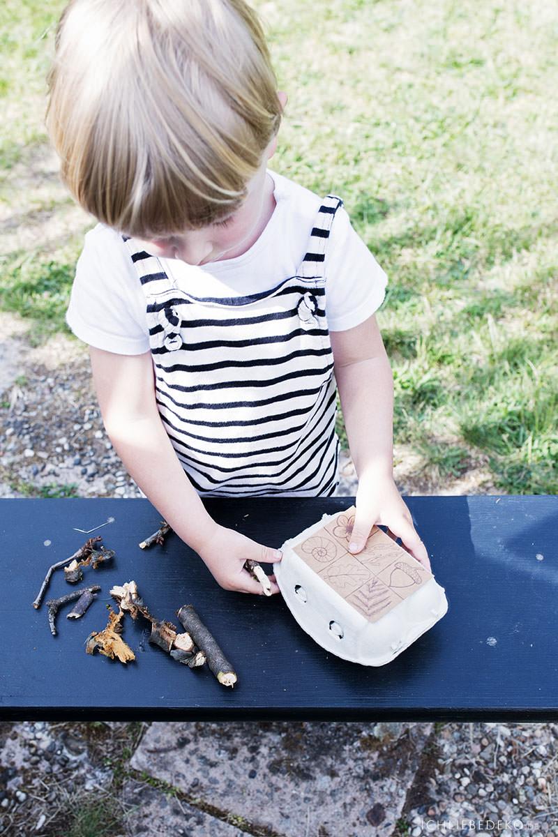 DIY Naturbingo als Beschäftigung für Kinder