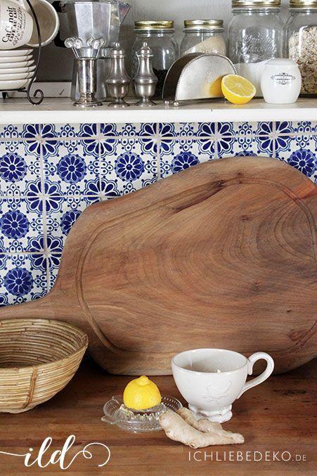 französiche-Landhausküche-in-blau-weiß