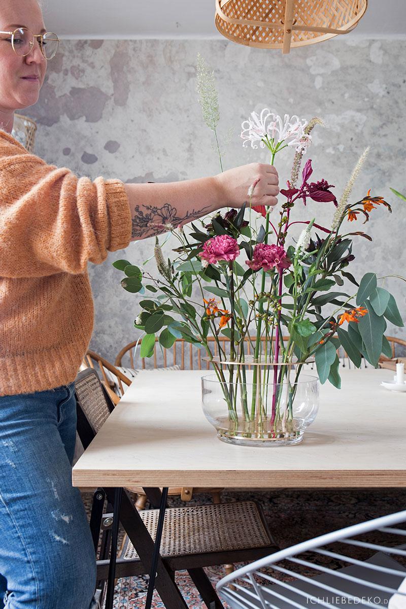Fritz Hansen Ikebana Vase dekorieren
