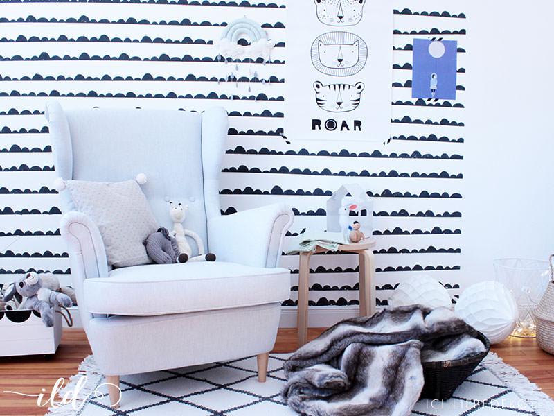 Gemütlicher Kuschel- und Stillplatz im Babyzimmer • Ich Liebe Deko