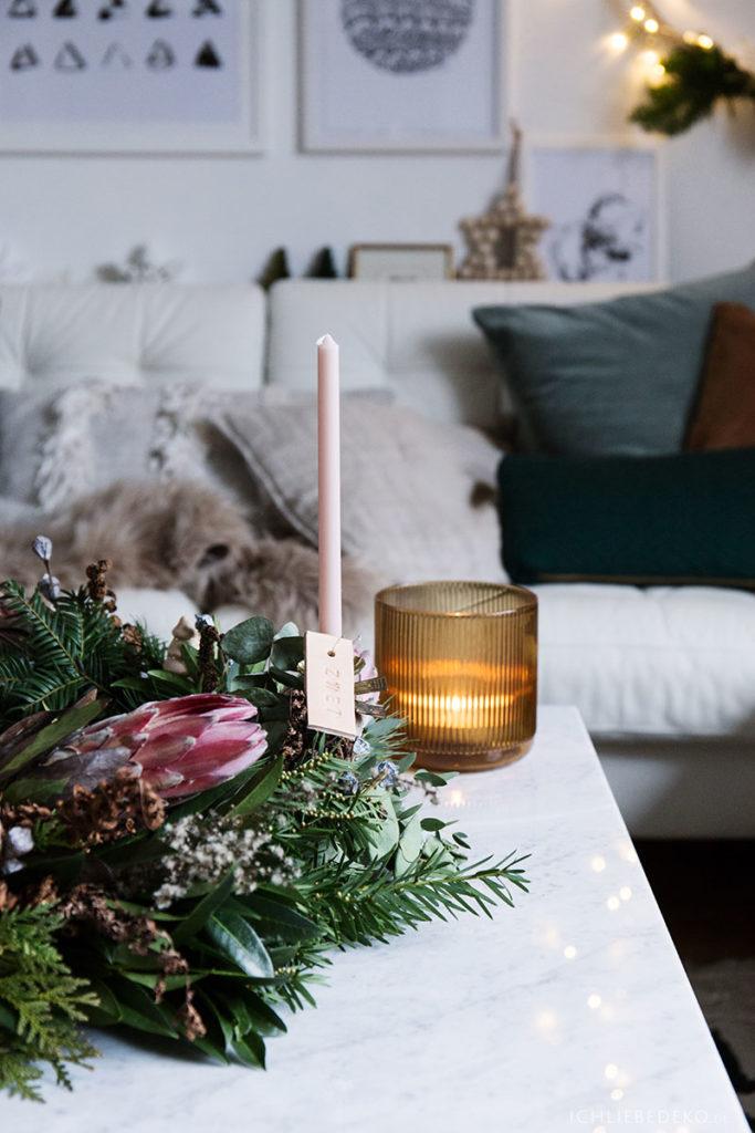 hyggelige Weihnachten im Kerzenschein