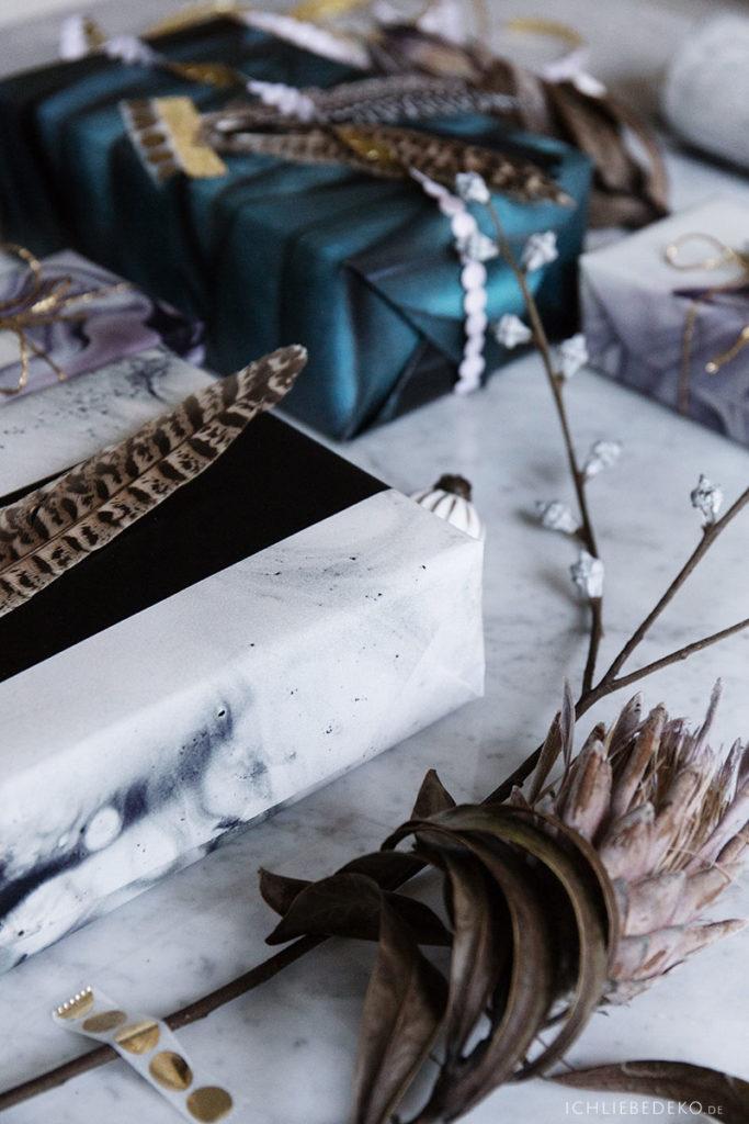 Geschenke fuer Weihnachten kreativ verpacken