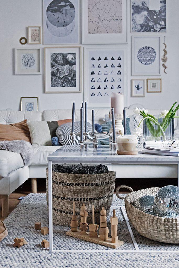 hyggeliges Wohnzimmer im Scandi Look