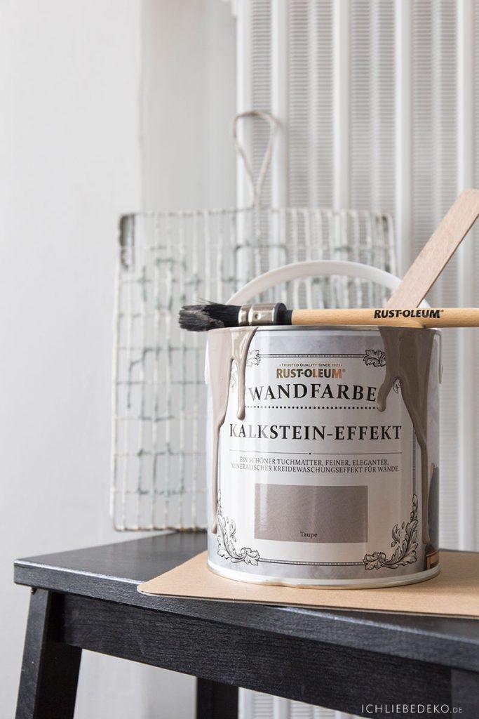 Wandfarbe Kalksteineffekt RustOleum