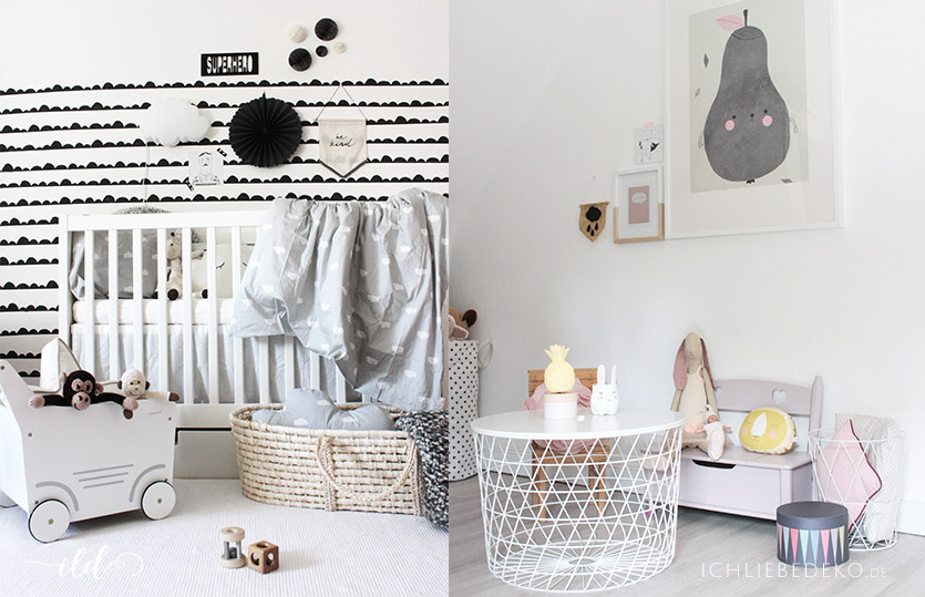 kinderzimmer einrichten monochrom vs pastell ich liebe deko. Black Bedroom Furniture Sets. Home Design Ideas
