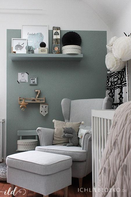 trendfarbe salbeigr n im babyzimmer jetzt kommt farbe an die wand ich liebe deko. Black Bedroom Furniture Sets. Home Design Ideas