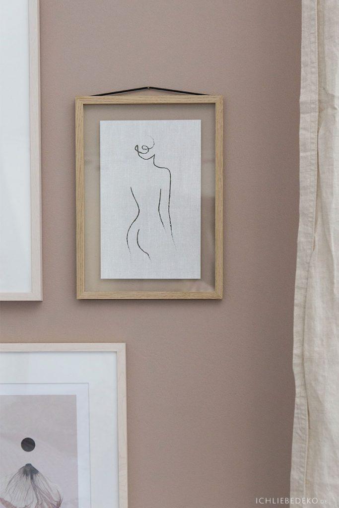 Moebe Rahmen mit Body Art im Leinen Look