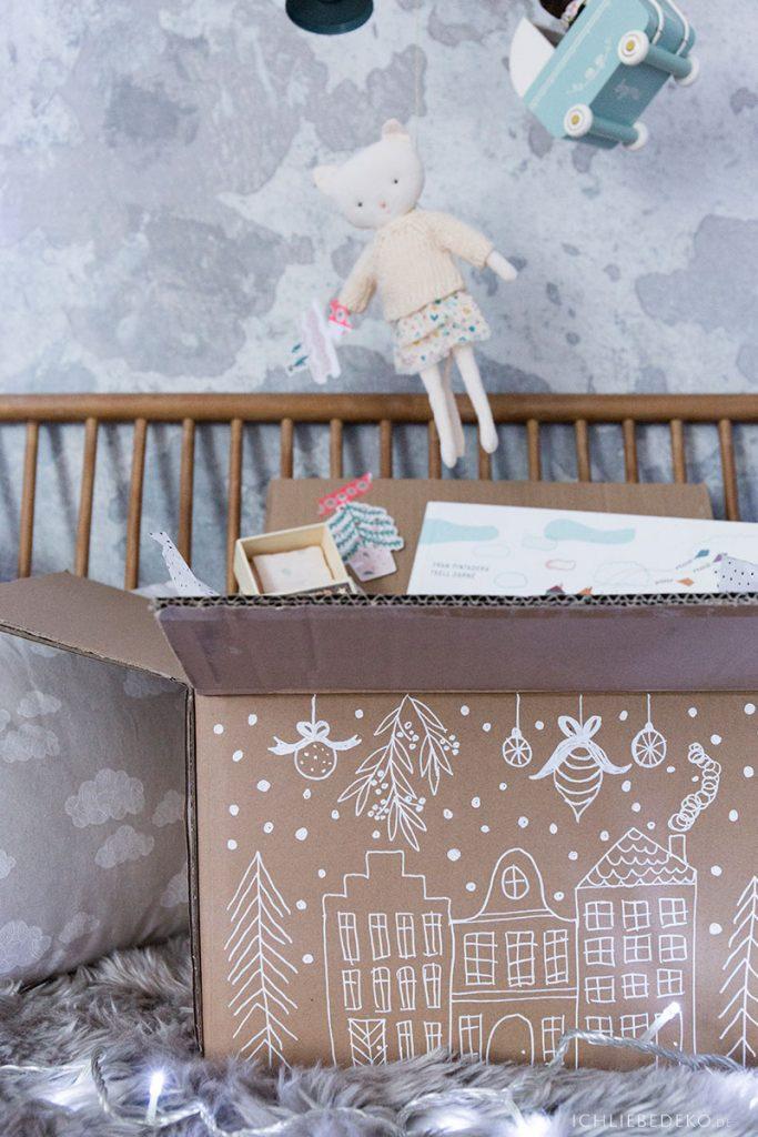 Verpackung recyceln als Geschenkverpackung für Weihnachten