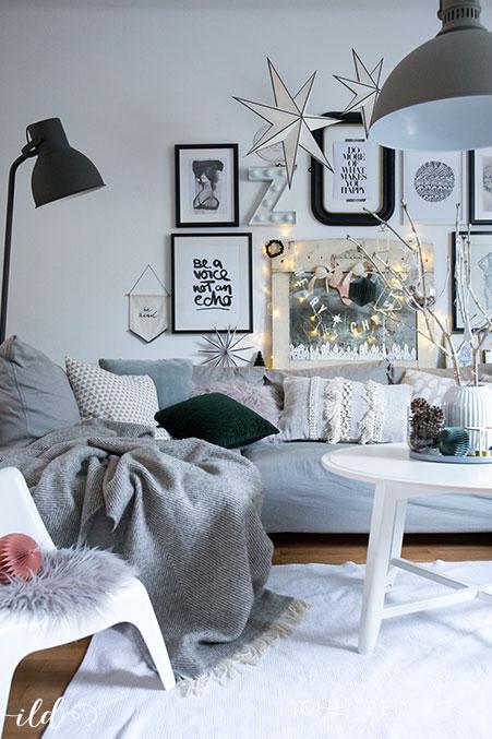 Weihnachtsdeko Im Nordischen Stil Fuer Ein Hyggeliges Wohnzimmer