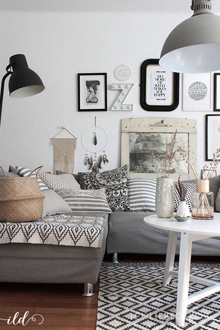 Wohnzimmer im Boho-Stil einrichten - so einfach geht´s • Ich Liebe Deko